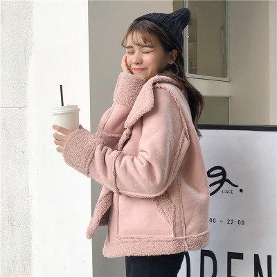 裏/秋冬/女性服/韓国風/スエード/手厚い/子羊ウール/暖かい/アウターウェア/原動力/学生