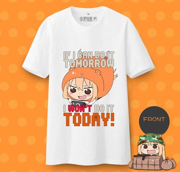 アニメヒモト! Umaru-chan Umaru DomaコスプレショートTシャツ