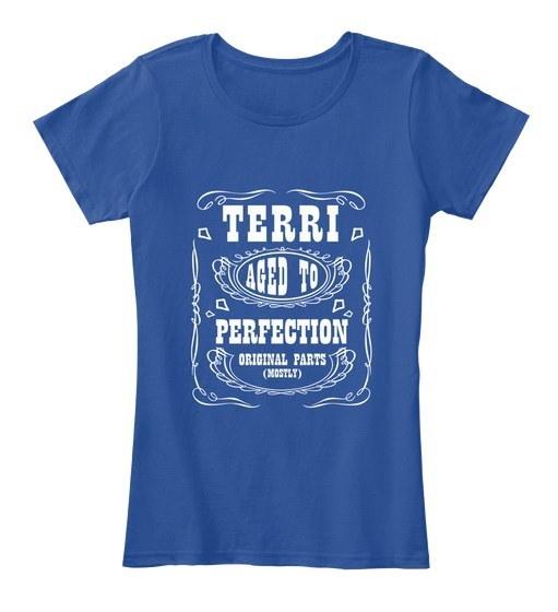 Terri   Aged To Perfection Women s Premium Tee