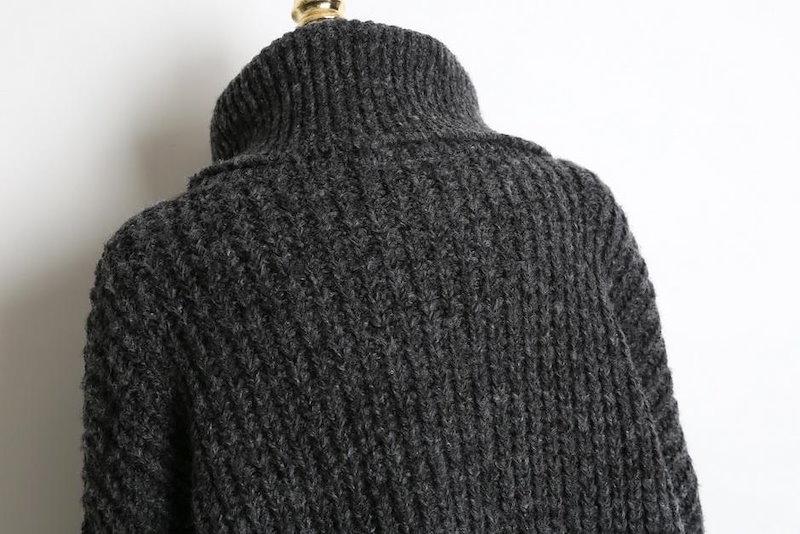 【送料無料】トップスSALE|やや立ち上がったタートルネックのデザインで、小顔効果の期待もできる嬉しいデザイン◎ニット トップス ニットワンピース チュニック 冬 秋 オーバーサイズ 大きいサイズ ざ