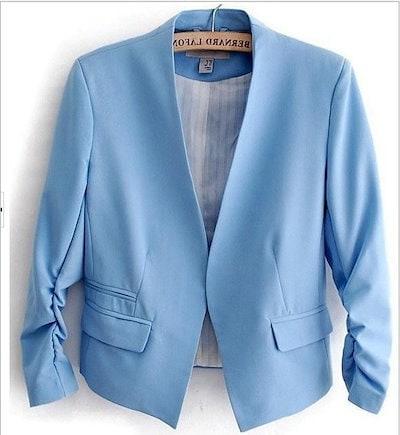 パステルカラー ジャケット カラバリ サイズ豊富 大きめサイズ 人気 きれいめ カジュアル フェミニン オフィス デート お出かけ トレンド 流行り 大人 こなれ感 春夏 春夏カラー 春夏コーデ