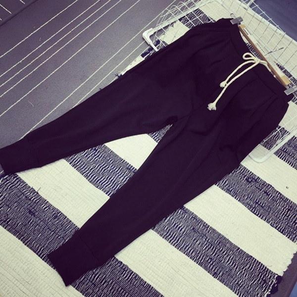 女性ファッションカジュアルハレムパンツズボンスエットパンツスポーツボトムス