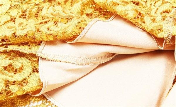 高品質の春の女性のドレス3/4袖の黄色のレースドレスエレガントなオフィスビジネスパーティーBodyco
