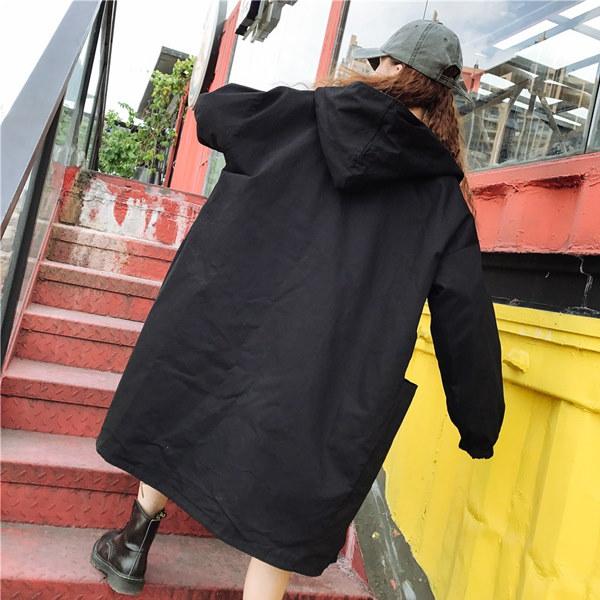 レディース アウターコート ジャケット ロングコート ミディアム丈 リバーシブル 2Way長袖 フード付き 迷彩柄 無地 トレンチコート フリーサイズ送料無料 tp350