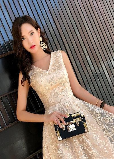 フィッシュテールドレス パーティードレス 結婚式 ワンピース ドレス 大きいサイズ 20代 30代 40代 お呼ばれ 二次会 親族 演奏会 キャバ 韓国