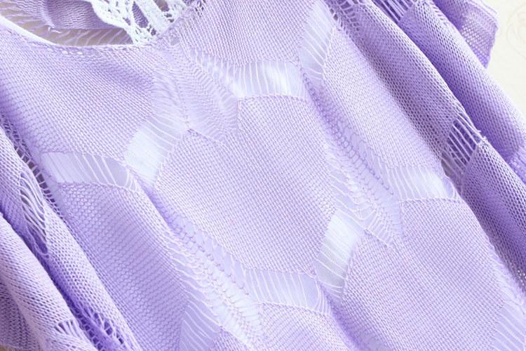 ドルマンスリーブニットプルオーバーゆったり透かし編み カギ編み 平日翌日出荷