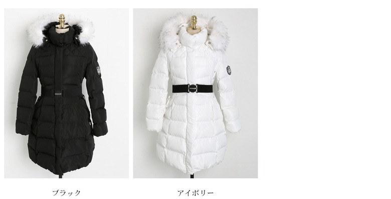 【送料無料】ロング丈なので負担なく着られるし、女性らしさを演出してくれるGOODアイテム♪ダウンコート ダウンジャケット 冬 オーバーサイズ 大きいサイズ フード付き 中綿 ダウン ワッペン ロング丈
