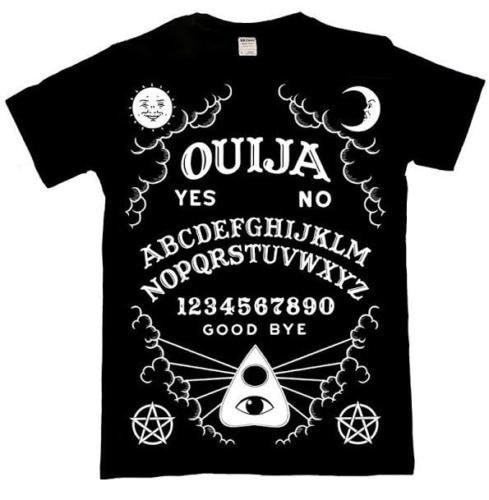 Mens Ouijaグラフィックシャツ - ブラック