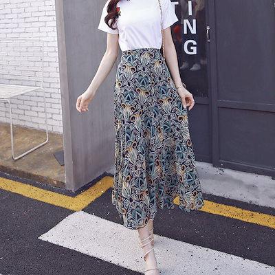 ボタニカル柄★ミモレ丈 スカート リゾートスカート 選べる3バージョン a0174