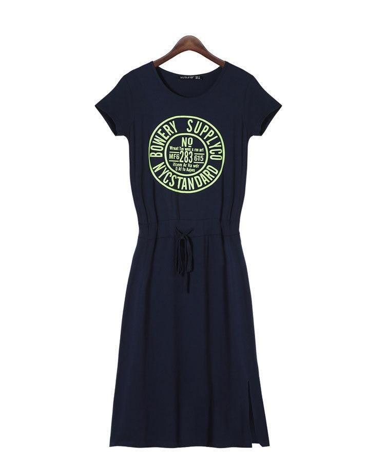 ちょっとそこまでのお出かけにも可愛いスタイルで♪ カットソー ワンピース Tシャツ ロング 部屋着