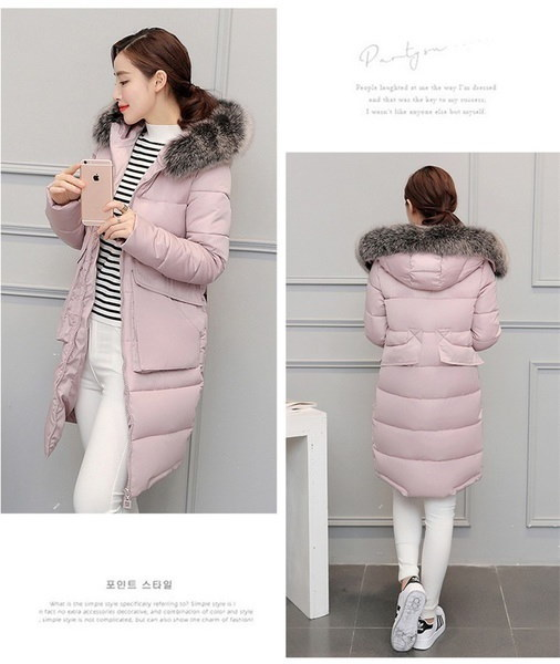 Gx-xx170714-181Down Parkas Winter Jacket Women Cotton Padded Thick Ultra Light Long Coat Faux Fur Co