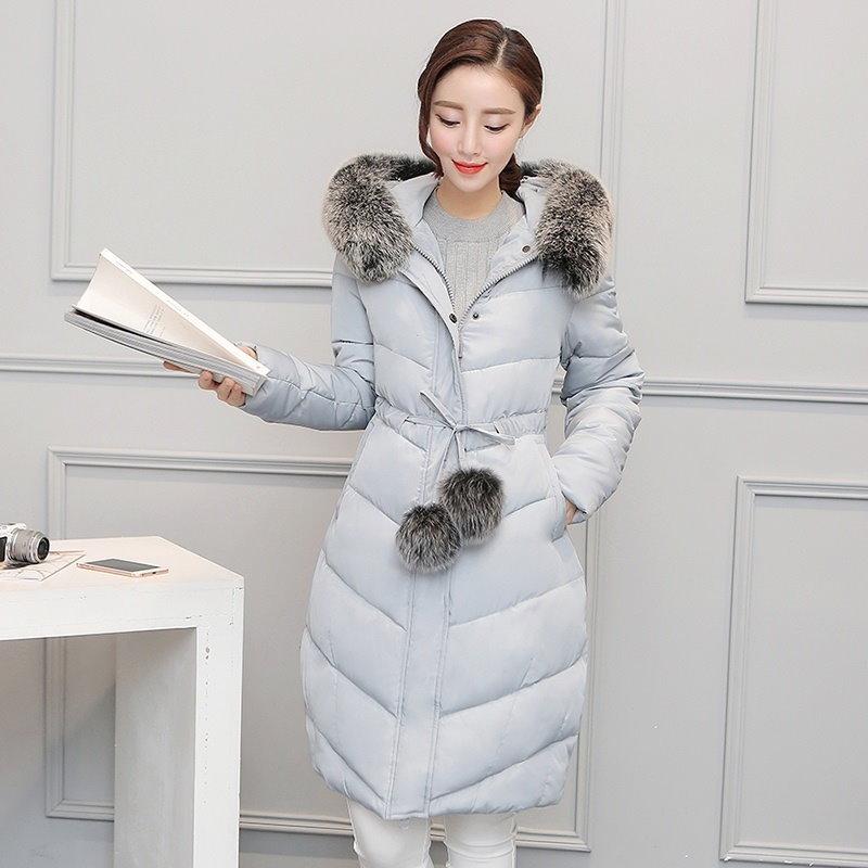 Gx-xx170714-181Down Parkas Winter Jacket Women Cotton Padded Thick Ultra Light Long Coat Faux Fur Co