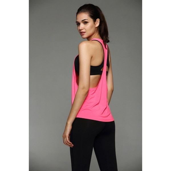 New Fashion Pure Color Sports Vest Professional Quick-drying Fitness Tank Top Active Women Yoga Clot