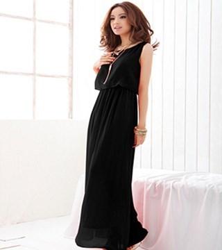 カジュアルドレスのベストラインの女性のドレス女性の大サイズロングボヘミアン最高品質のシフォンd