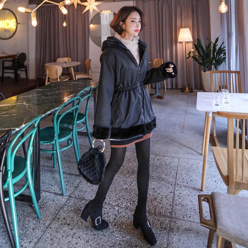 ♥送料 0円★PPGIRL_B150 Reversible fur jacket / faux fur jacket / fur coat / fake fur / hood jacket /