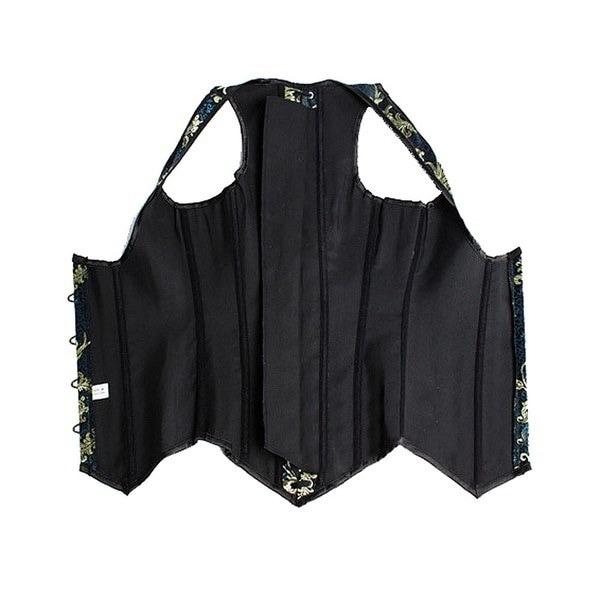 セクシーなウエストトレーニングコルセットBustiersブラックUnderbustスチールシンチェル女性のためのショートCorselet