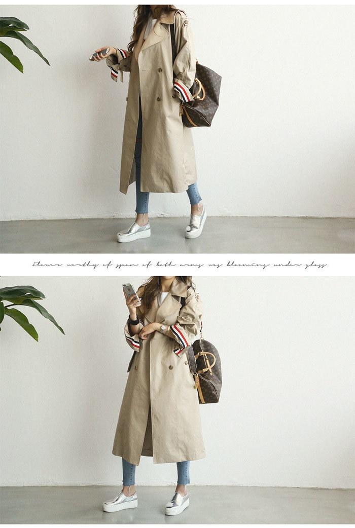 [ナンニン9]【送料無料】ロング丈でヒップラインを包み込み、体型カバーにも役立つ嬉しいデザイン。トレンチコート レディース ロング/スプリングコート 大きいサイズ/ロングトレンチコート/春 アウター ロング トレン