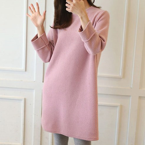 [ClicknFunny] Soft brushed dress OP4344 Midi Dress (knee length) Korean fashion style