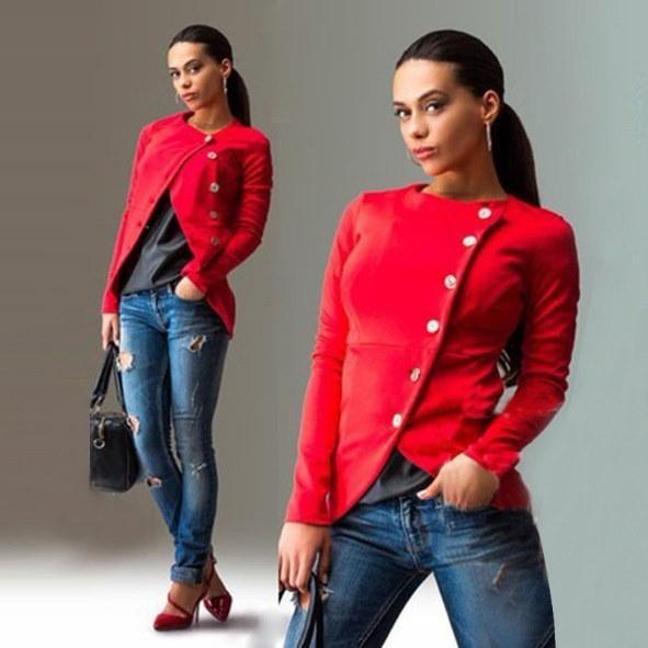 2016 Hot Sales Autumn Winter Women Sexy Long Sleeve Jackets