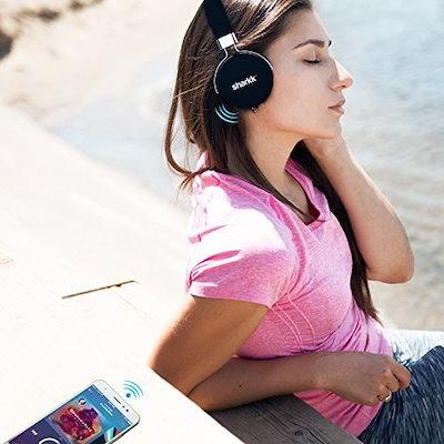 BluetoothヘッドフォンSharkkステレオマルチポイント接続Bluetoothワイヤレスヘッドセットヘッドフォン12 Ho