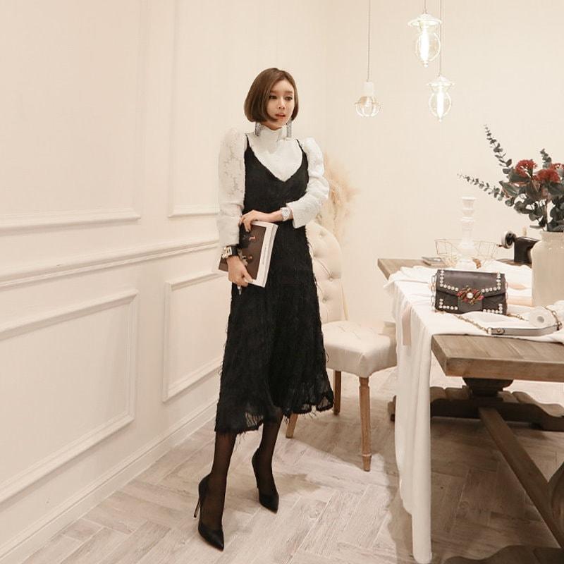 ♥大ヒット商品超特価♥韓国ファッション女性服1位『VIVARUBY』♡フレンチビューワンピース♡最高級品質! 送料無料 P0000SZM