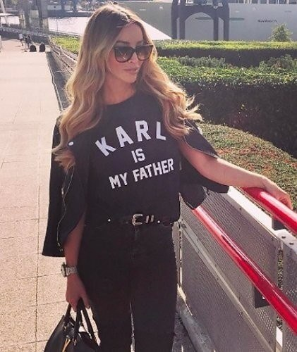 Brand New Fashion Summer Harajuku KARL IS MY FATHER Print Shirt O-Neck Short Sleeve Top Tee Women Bl