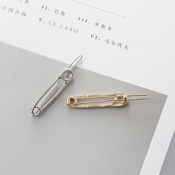 2本の新しいファッションシンプルなジュエリー絶妙な遊び心のある金属モデルセーフティピンヘアピンヘアアクセサリー