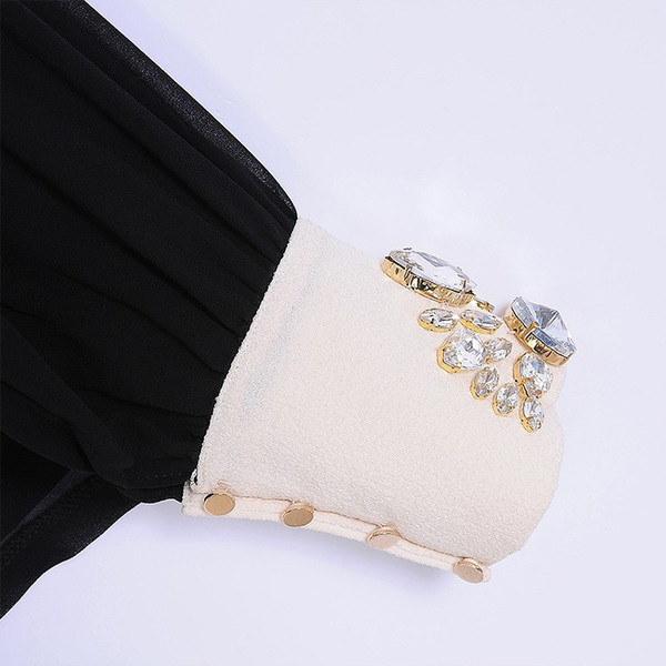 送料無料上下セット Tシャツ カットソー 透かし感 レディース スカート ヒップアップ ペンシルスカート 花柄 ビジュー飾り ショートスカー