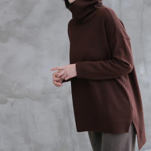 [zoozoom] Unbalance modern turtle knit 5color / 28579