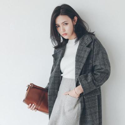 秋冬 ツイード アウター 格子縞 学院風 厚い ゆったり シンプル レディーズ女性 カジュアル ファッション 合わせやすい