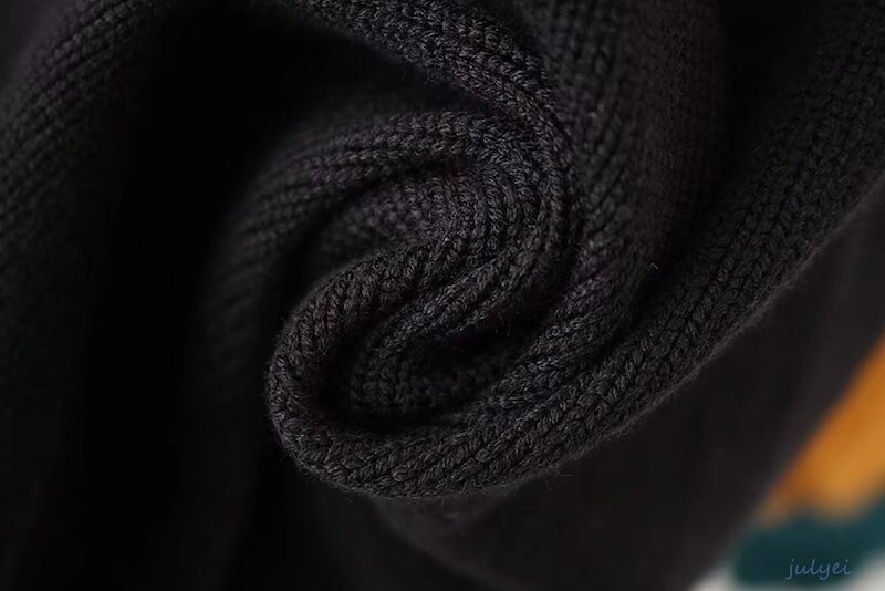 全3COLOR   秋冬 配色ニット プルオーバー  ラウンドネック 長袖トップス カジュアル セーター  レディース お洒落  チュニック ニット  ホワイト、イエロー、オレンジ