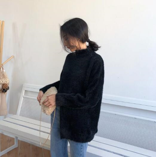 [55555SHOP]  ビオベルタートルネックニット / おしゃれなシルエットのファッションコーデー提案!ハイクォリティー/韓国ファッション/オフィスルック/