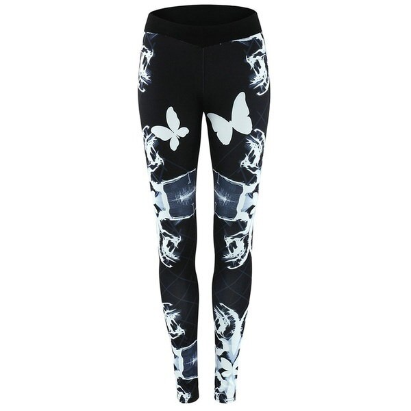 ヴォーグプリントセクシーな臀部リフティングズボン女性の弾性ランニングレギンスクイック乾燥ズボン
