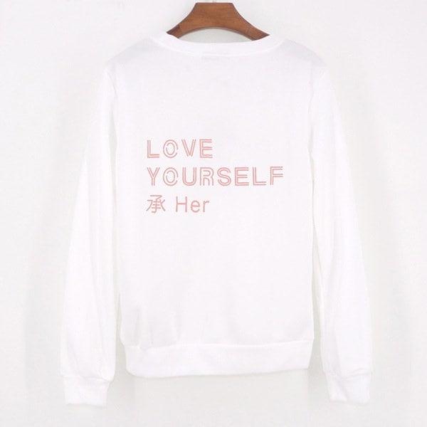素晴らしい女性の新しいファッションBTS長袖フリースフード付きウィメンズセーターシャツ