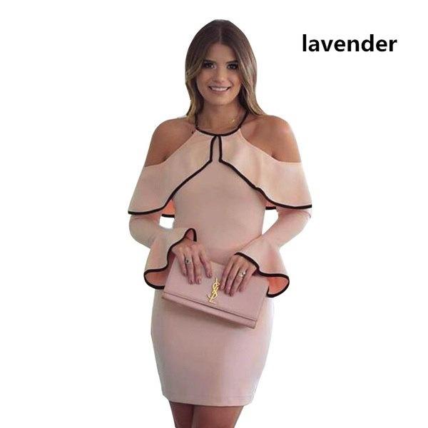 レディースフライングストラップレスイブニングドレス女性スリングロングスリーブパーティードレスペンシルドレス
