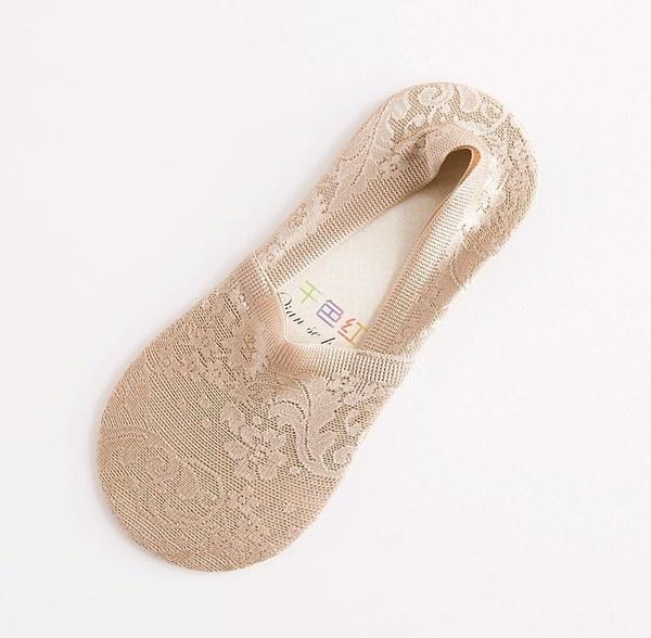 新しい春と夏の深いホース女性の靴下、ノンスリップレースソックスソックス