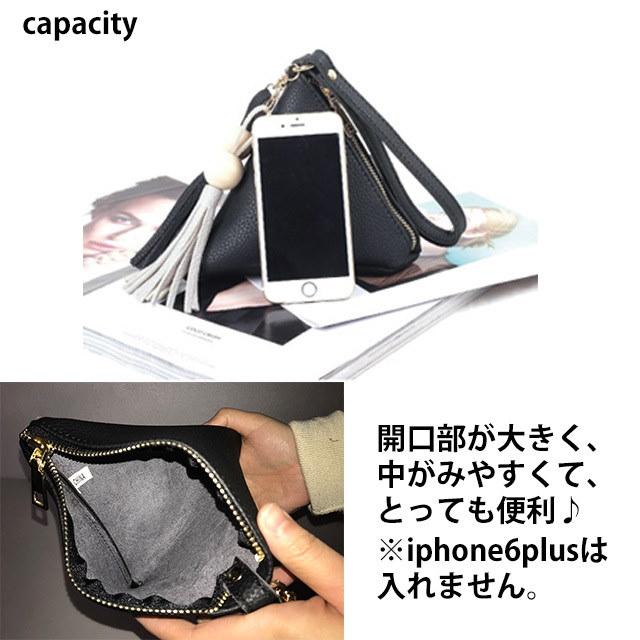 春新作 トライアングルバッグ【即納】バッグ 鞄 ハンドバッグ トライアングル 三角 タッセル シンプル レディース