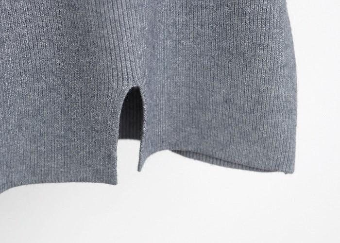 韓国ファッション タートルネック袖リボンニット【11】