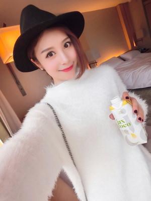 ニット セーター クルーネック 女性 無地 防寒 モコモコ ファッション ゆったり スプリット