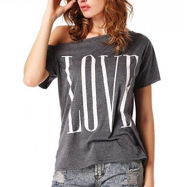 レトロファッション女性セクシーなオフショルダー半袖カジュアルトップTシャツブラウス