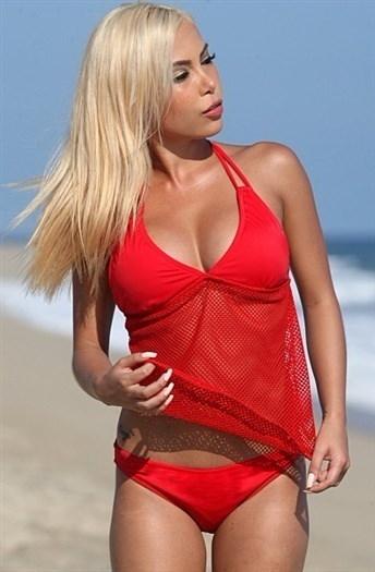 2017女性のセクシーなレースビキニホルター空洞パッキンTankiniファッション夏の水着(S  -  5XL)