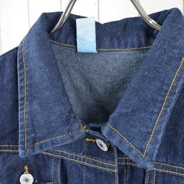 デニム Gジャン ジャケット ゆったり ビッグシルエット ベーシック シンプル アウター レディース ブルー