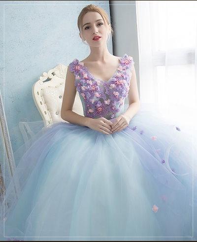 20代 パステルカラーとふんわり広がるシフォンが柔らかで可愛いお姫様ドレス 送料無料 お呼ばれ 大人かわいい ワンピース 結婚式 ドレス