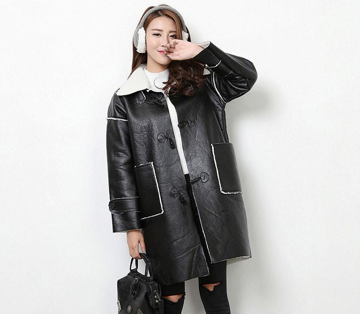 コート♪防寒/厚底/裏起毛◆ブラック
