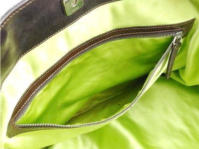 フェンディ FENDI トートバッグ ハンドバッグ レディース   ネイビー ホワイト 白 グリーン デニムキャンバス×レザー 人気 セール 【中古】 T8959