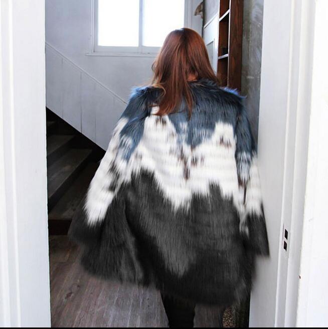 s14 暖かい 毛皮コート ファー レディース アウター フェイクファー
