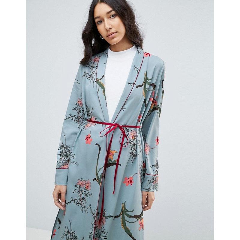 エイソス レディース トップス【ASOS TALL Printed Kimono】Multi