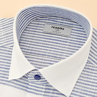 [SAY公式ストア]【renoma shirts]スルロプ緯糸マルチストライプ(RJLSL0151)NY