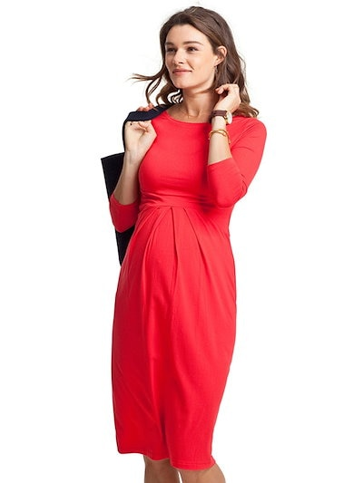 O Neck Solid Comfortable Maternity Dress