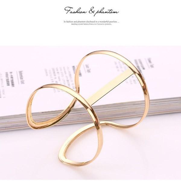 女性のための幾何学バングルブレスレットシンプルなデザインのブレスレット(カラー:ゴールド)
